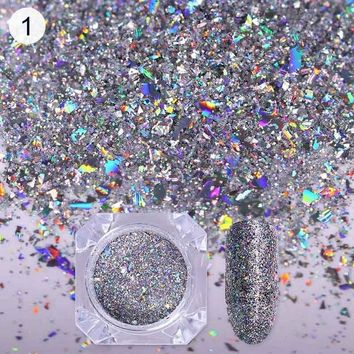 BORN PRETTY 0.5g Holographic Nail Glitter Powder Colorful Laser Sequins Iridescent DIY Flakies Nail Art Paillette For Manicure