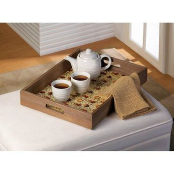 Cute Owls Wooden Serving Tray