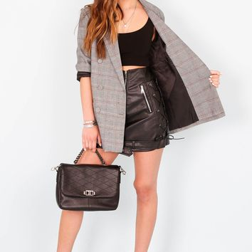 Bitty Biker Moto Skirt