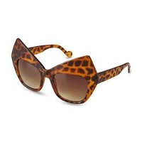 Women's Cat's-Eye Sunglasses - Leopard Print