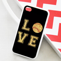 iPhone 4 Case - Love Softball iPhone Case - iPhone 5 Case - iPhone 5c Softball Case - iPhone 4s Softball Case - iPhone 5s - iPhone5 Case