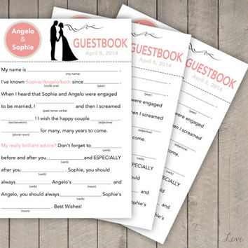 Guestbook fill in the blanks - Digital file