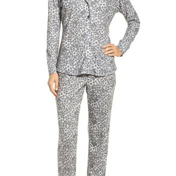 LOVE+GRACE 'Cassie' Animal Print Flannel Pajamas | Nordstrom