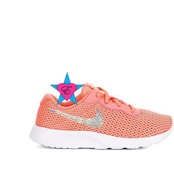 Crystal Pink Orange NIKE Girls Tanjun | 3.5 - 7