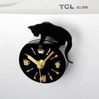 2016 New style Leisure time cat clock refrigerator magnets message posted withdrawing watch fridge magnet mute wall clocks