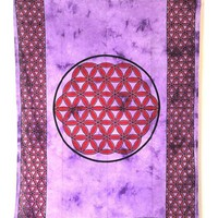 Cotton Celtic Tye Dye Knot Print Tapestry