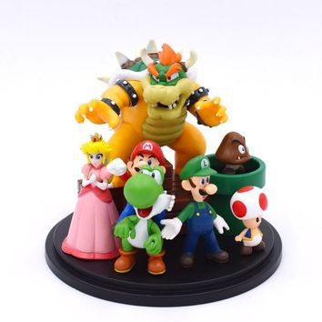 Super Mario party nes switch  Bros Bowser Princess Peach Yoshi Luigi Toad Goomba PVC Action Figure Toy Model Hot Toys For Children   AT_80_8