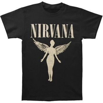 Nirvana Men's  In Utero Tour Mens Soft T Slim Fit T-shirt Black