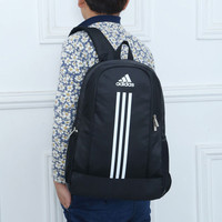 """Adidas"" Fashion Casual Male Female Student Letter Three Article Vertical Stripe Travel Movement Computer Backpack"