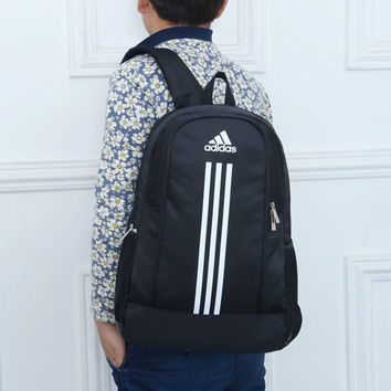 """""""Adidas"""" Fashion Casual Male Female Student Letter Three Article Vertical Stripe Travel Movement Computer Backpack"""