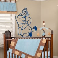Winnie The Pooh Wall Decals Bear Decal Nursery Baby Room Decor Sticker Art MR458
