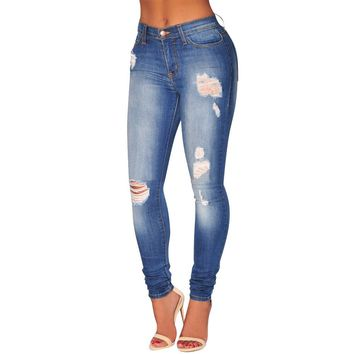 Blue Washed Swann - Women's Custom Blue Color Washed Jeans