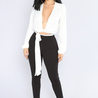 All Business Jumpsuit - White/Black