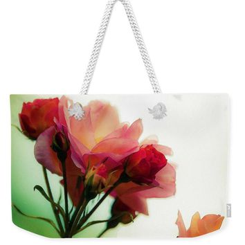 Watercolor  Pink Roses - Weekender Tote Bag