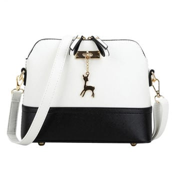 Women shoulder cross body  Deer Spliced Collision bag