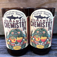 Dogfish Head IPA Set of 2 Romantic Chemistry Soy Candle Blood Orange Scent Craft Beer Gift