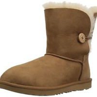 UGG Girls K Bailey Button II Fashion Boot, Chestnut, 5 M US Big Kid