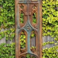 Exeter Church Tracery Medieval Cathedral Garden Wall Panel Hanging