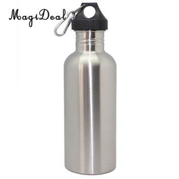 MagiDeal 1000ml Stainless Steel Wide Mouth Cycling Running Sports Drinking Water Bottle for Camping Hiking Swiming Accessoreis