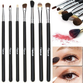7 Pcs Pro Foundation Blush Powder Beauty Eye Make up Brushes Set Pencil Brush S0 7_S