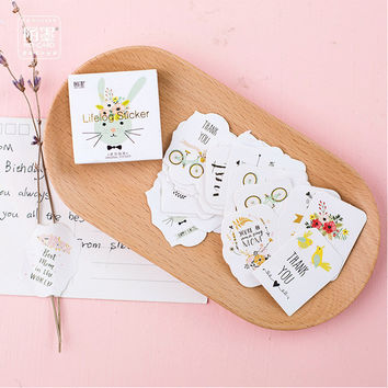 (45pcs/Set) happine Fore Diary Stickers Pack Post it notebook Planner Scrapbooking Sticky Stationery Escolar School Supplies2017