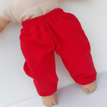 "American Girl Bitty Baby Clothes 15"" Doll Clothes Red Flannel Pants or Pj Bottoms Christmas Winter Fall Autumn"
