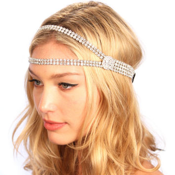 1920's Great Gatsby Inspired Art Deco Flapper Headpiece Headband