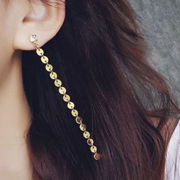 Golden True Love Dangling Ear Studs - LilyFair Jewelry