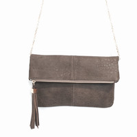 Melodie Crossbody Handbag In Dove Grey