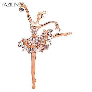 Ballet Dancer Ballerinas Brooches Women Girls Cachecol Hijab Pin Up Clips Scarf Hats Shoulder Corsages Bouquet
