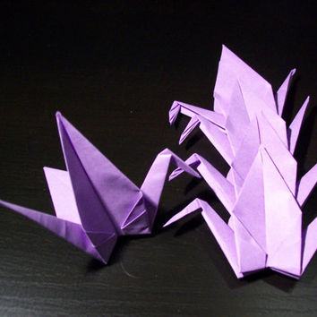 Origami Paper Wedding Crane Violet, Purple, Wedding Crane, Origami Crane, Purple Crane,Wedding Decoration Crane,Origami wedding,Set of 1000