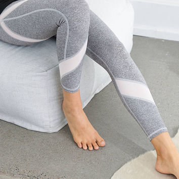 Aerie Move 7/8 Mesh Detail Legging , Gray