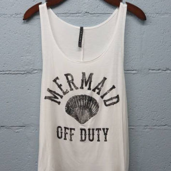 mermaid off duty - Ivory
