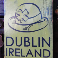 Dublin Ireland Typography Wall Art by 13pumpkins on Etsy