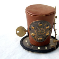 Steam Punk Royalty Vintage Clock Tiny Top Hat