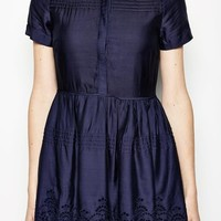 HARWICH S/S PINTUCK DRESS