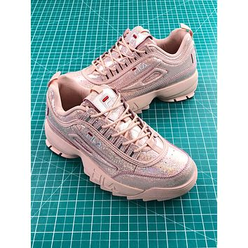 Fila Disruptor Ii 2 Pink Shiny Fashion Shoes