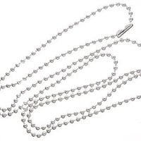 """ONE 24"""" Silver Plated Ball Chain"""