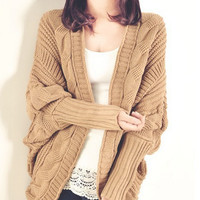 Knit Cardigans - Tan - Black or Ivory