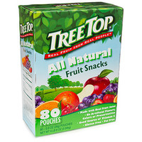Tree Top All Natural Fruit Snacks Candy Packets: 80-Piece Box