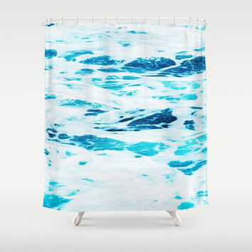 Ocean Waves Shower Curtain by cadinera