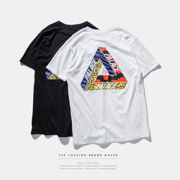 """PALACE"" Letter and Tiger Pattern Short Sleeve T-Shirt"