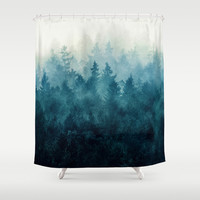 The Heart Of My Heart // So Far From Home Edit Shower Curtain by Tordis Kayma
