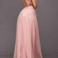 Pink Patchwork Grenadine Tutu Sparkly Sequin Spaghetti Backless Bridesmaid Homecoming Party Maxi Dress