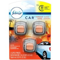 Febreze CAR Vent Clip Hawaiian Aloha Air Freshener, 0.20 oz, 3 count - Walmart.com