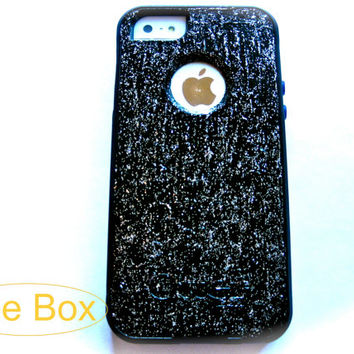 OTTERBOX iphone 5 case, case cover iphone 5s otterbox ,glitter otterbox case,otterbox iPhone 5,gift,black otterbox case