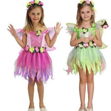 fairy costume girls costume children performance wear birthday dress butterfly costume flower costume for girls novelty dancer