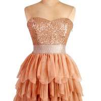Mini Charming Sweetheart pleated sparkle prom dress from fashionforgirls