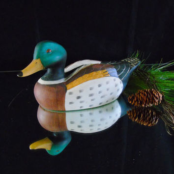 "Male Mallard Duck Decoy Ceramic 11.5"" Bird Figurine"