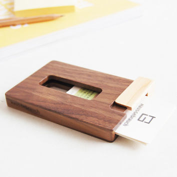 Wood Business Card Case Holder Real from iWoodSpaces on Etsy